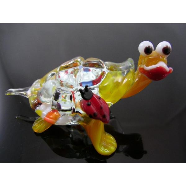 Schildkröte mit Marienkäfer 4 - Glastier