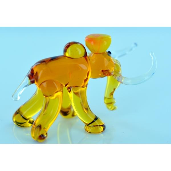 Mammut Mit Hut - Glasfigur - Glastier