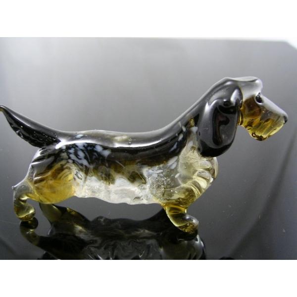 Hund-Dog-Rauhhaardackel aus Glas - 30-2