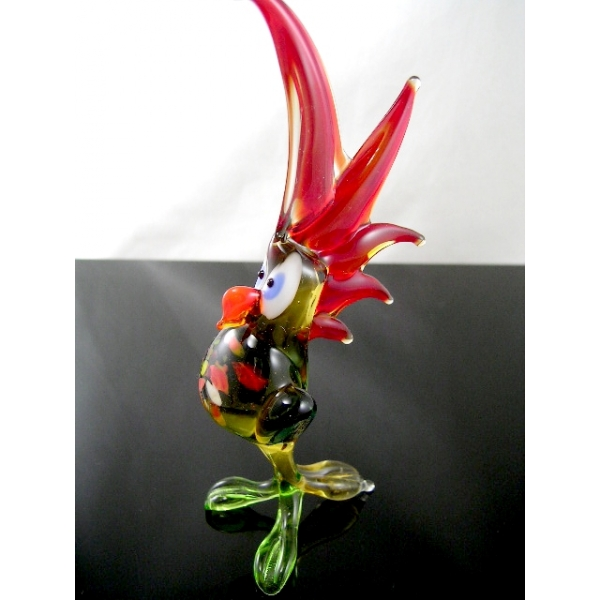 Papagei -Glastier-Glasfigur-Glasfiguren-b6-39-3