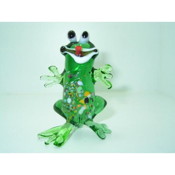 Frosch _stehend - Glastier