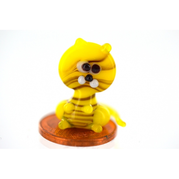 Tiger mini gelb-Glasfigur