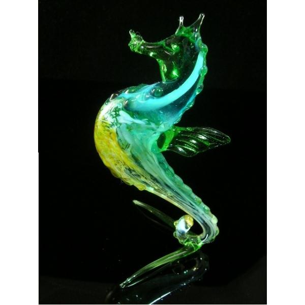 Seepferdchen aus Glas - Glastier Glasfigur