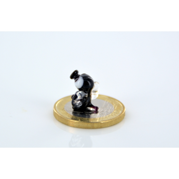 Mücke Glas Schwarz Mini - Miniatur Glasfigur - Glastier Fliege D
