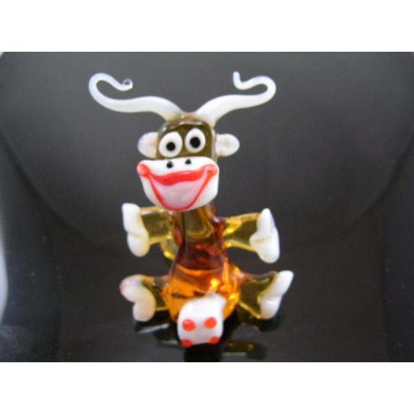 Kuh 4-gelb - Glastier
