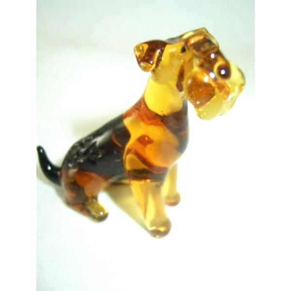 Hund-Dog-Rassenhund Airedale Terrier Glasfigur-b8-2-2