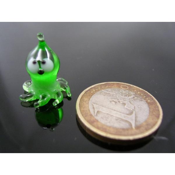 Krake-Tintenfisch mini-Glastier-k-2 -grün