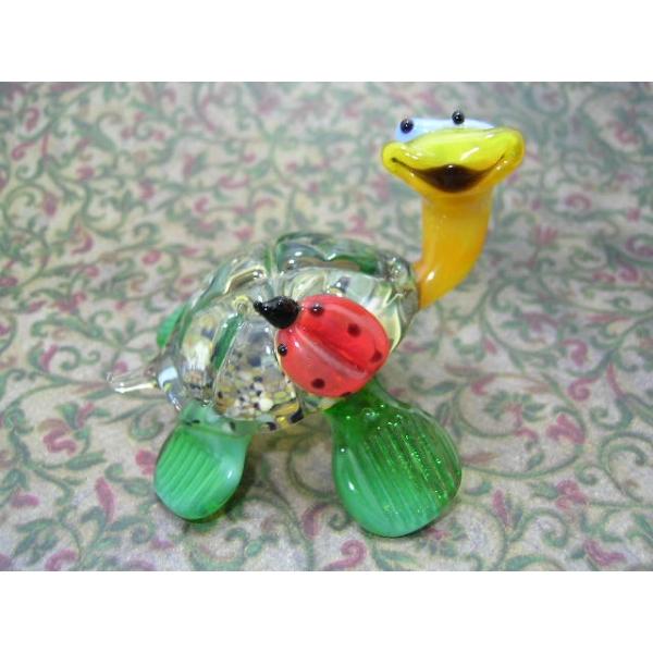 Schildkröte mit Marienkäfer - Glastier