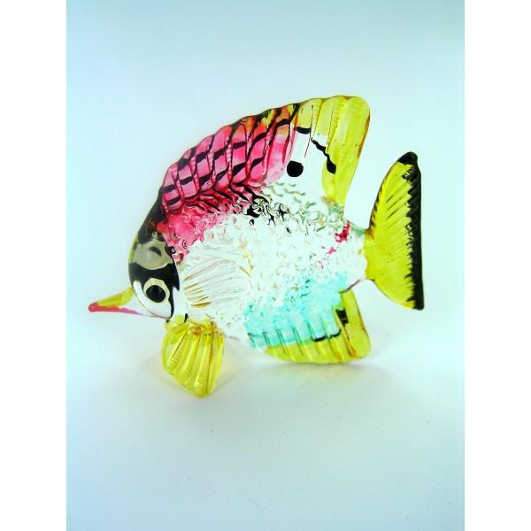 Fisch-Bunter Glasfisch-Glasfigur-Glastier-T-09-Groß