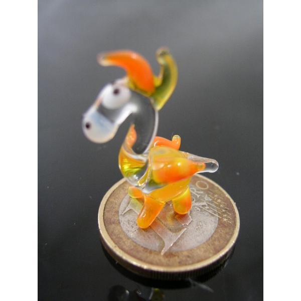 Drache mini -Glastier-Glasfigur-k-2-gelb 2
