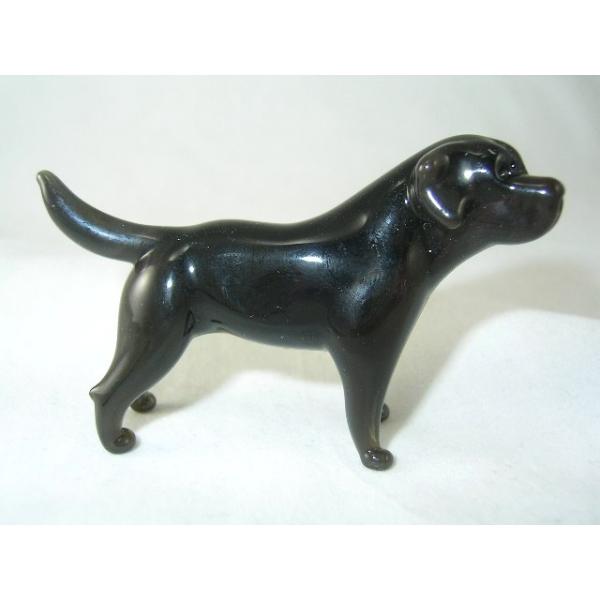 Hund-Dog-Labrador schwarz-b8-3-5- Glastier