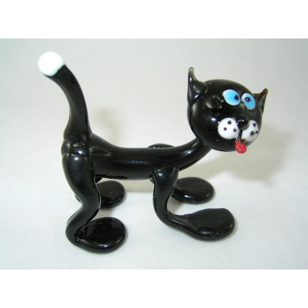 Katze (Cat) schwarz-4-19 - Glastier
