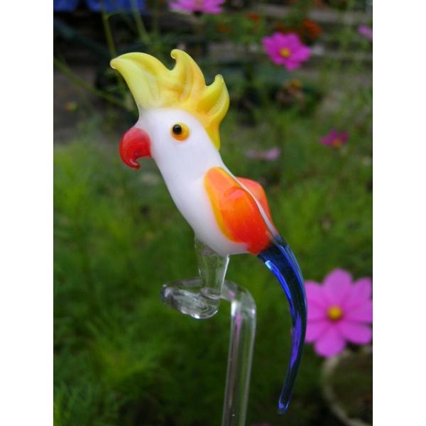 Papagei weiß-Orchideenstab-Blumenstab-Rankhilfe-u-3