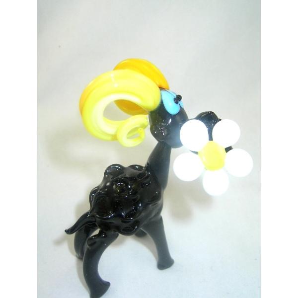 Schaf mit Blume--Glasfigur-Glasfiguren-b10-5-4