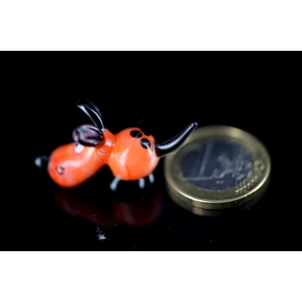 Hund - Mini Orange Rot Braun 32