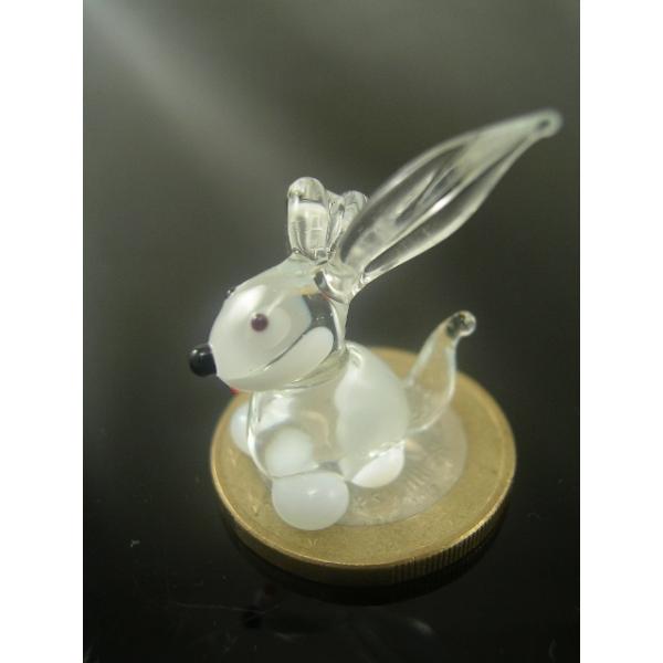 Kaninchen mini 2-Glasfigur-k-8