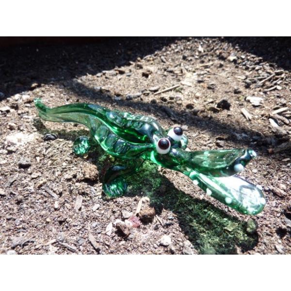 Krokodil vom Nil , y3-4 - Glasfigur - Glastier