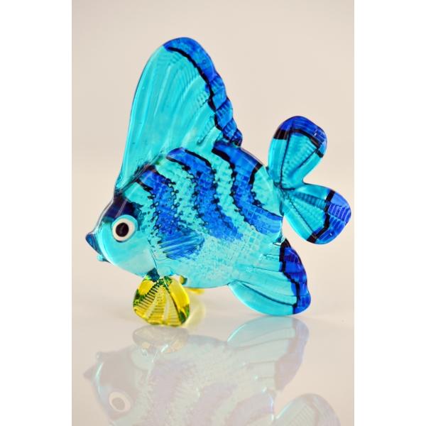 Bunter Glasfisch - Glasfigur- Glastier - y116