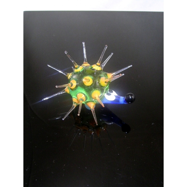 Igel -Glastier-glasfigur b7-38-3