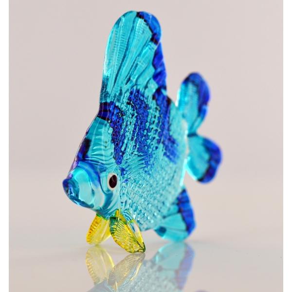 Bunter Glasfisch - Blauer Zierfisch 7 x 2 x 8 cm - Glastier