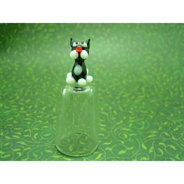 Fingerhut aus Glas-Katze