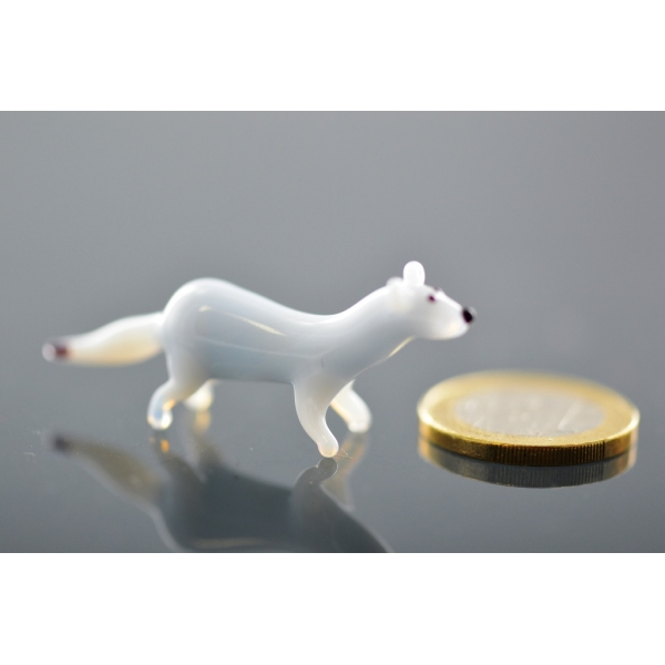 Hermelin mini -Glasfigur