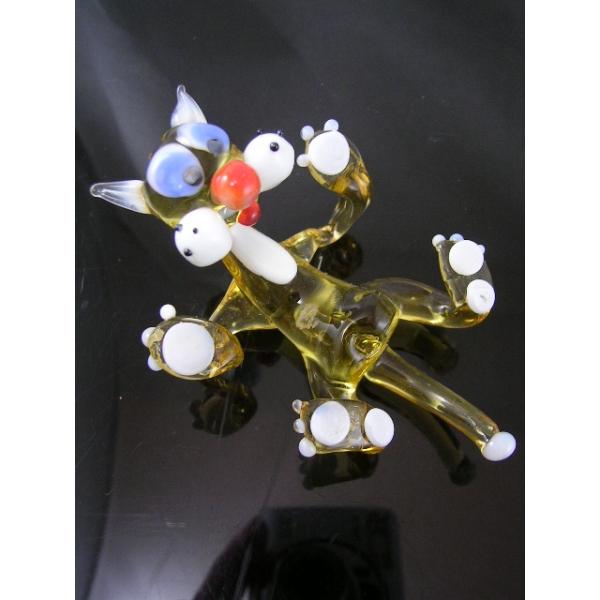 Katze-Katzen-Cat-Glasfigur-Glasfiguren v-3