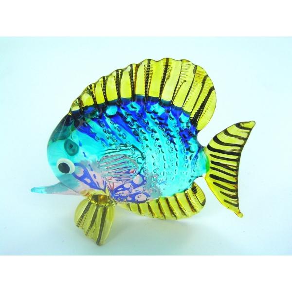 Fisch-Bunter Glasfisch-Glasfigur-Glastier-T-03-Gro
