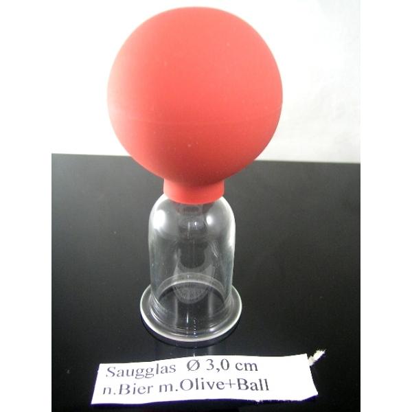 Saugglas mit Olive und Ball nach Bier-3,00 cm