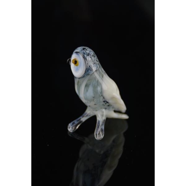Eule Figur aus Glas - Schneeeule Glasfigur - Vogel Schnee Eule 1