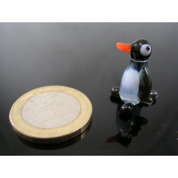 Pinguin mini-k-3-Glasfigur-Glasminiatur -Glasfiguren