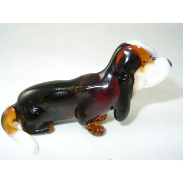 Hund-Dog-Basset Hound aus Glas-47-2