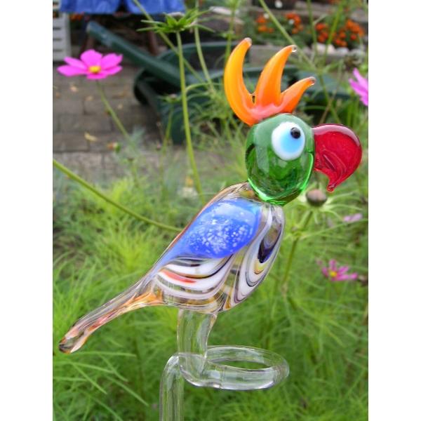 Papagei classic-Orchideenstab-Blumenstab-u-2