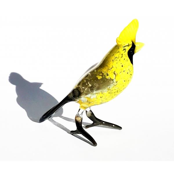 Wiedehopf - Figur aus Glas - Braun Gelb Glasfigur 6-16-5 - Vogel