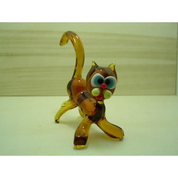 Katze gelb 2 - Glastier