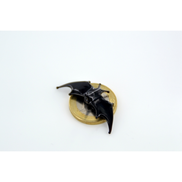 Fledermaus mini Schwarz Glas - Miniatur Figur - Glasfigur