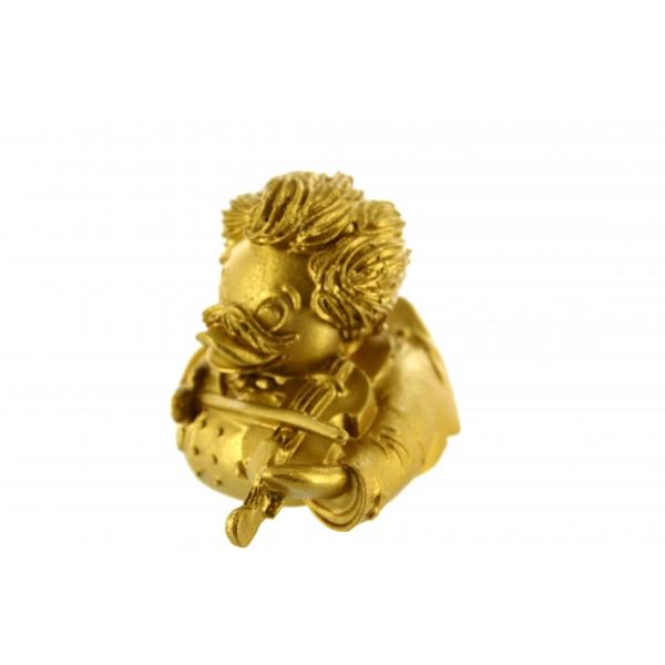 Johann Strauss Sohn Quietscheente golden