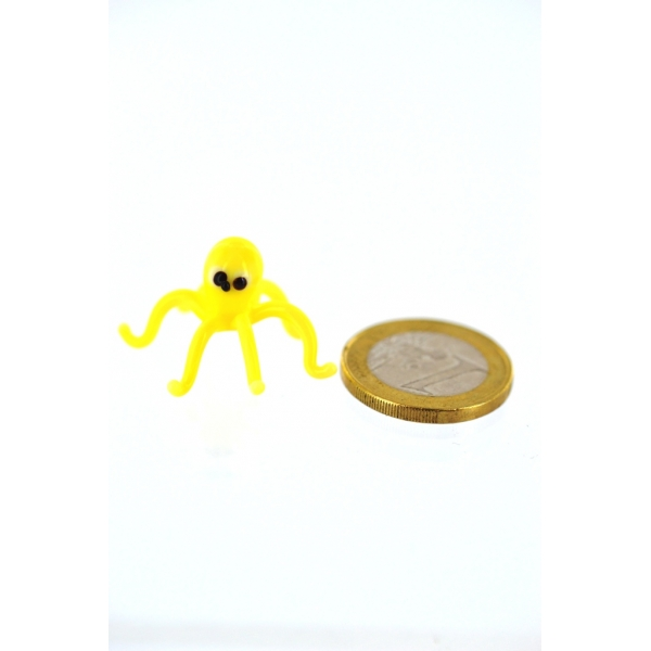 Krake mini gelb - Glasfigur