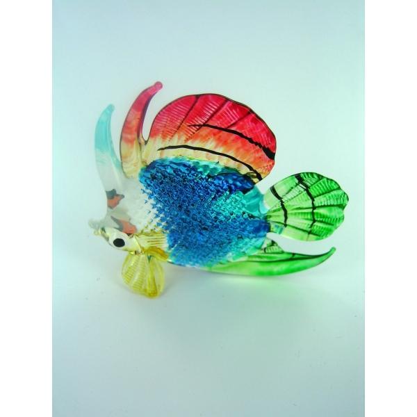 Fisch-Bunter Glasfisch-Glasfigur-Glastier-T-111-Groß