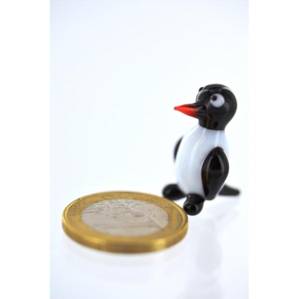 Pinguin Mini - Figur aus Glas Miniatur - Pinguine 1 - Glasfigur Setzkasten Deko