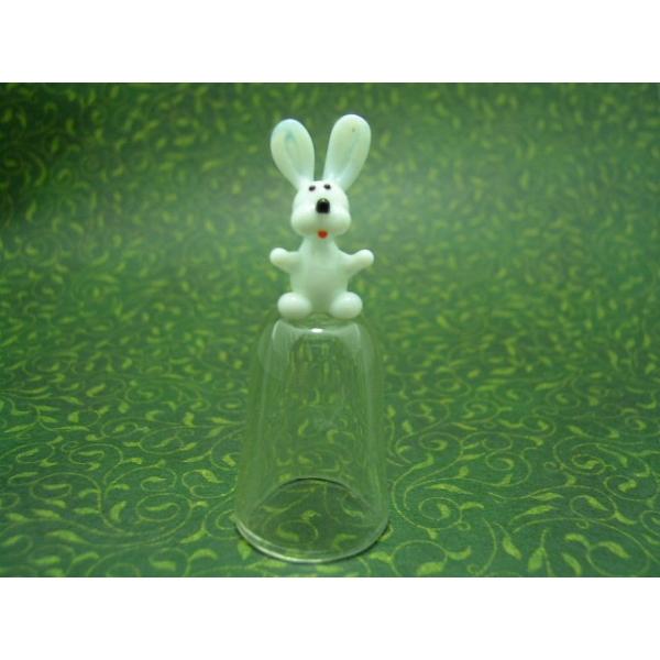 Fingerhut aus Glas-Hase