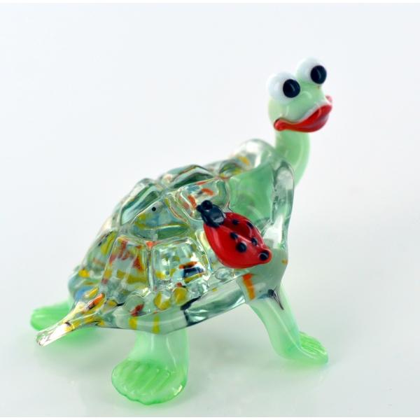 Schildkröte mit Marienkäfer 3 - Glastier