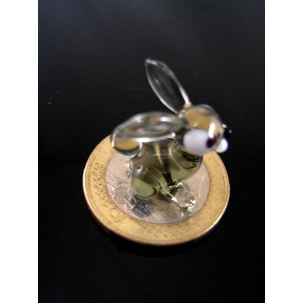 Hase 1 mini-Kaninchen-Glastier-Glasfigur-k-9