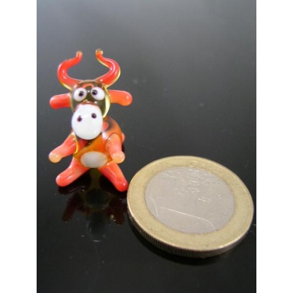 Kuh mini rot -Glasfigur-Glasminiatur-k-5
