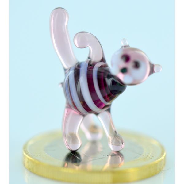 Katze-Tigerkatze - mini-Glasfigur