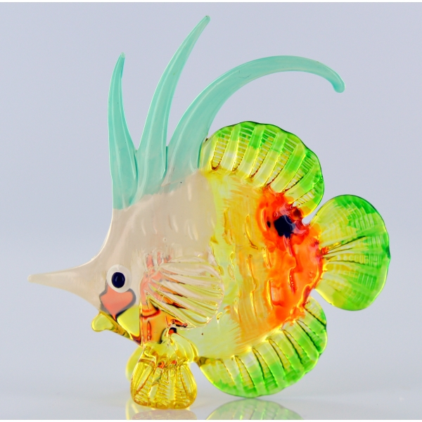 Bunter Glasfisch - Glasfigur- Glastier - y60