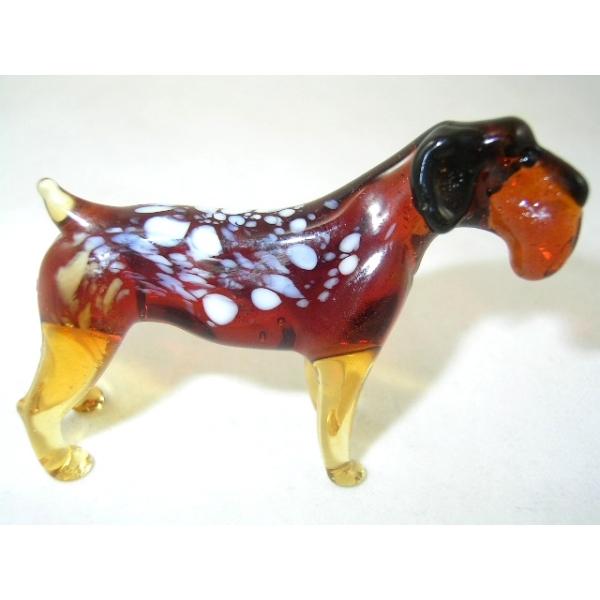 Hund -Rassehund-Deutsch Drahthaar-b8-8-5-Glasfigur