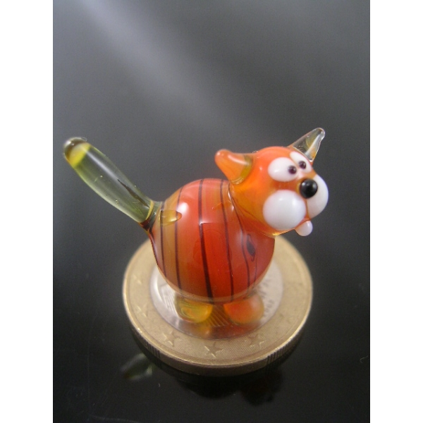 Katze mini orange 2-Glasfigur-k-6