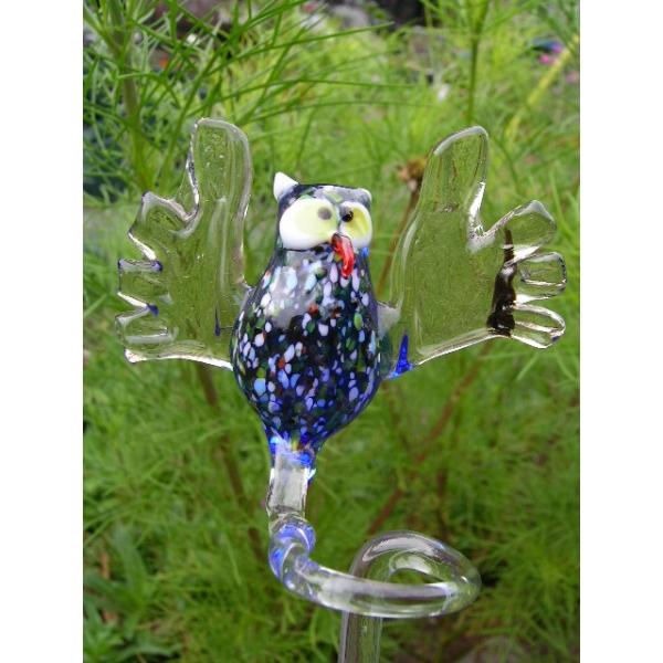 Eule Blau-Orchideenstab-Blumenstab-Rankhilfe-u-2