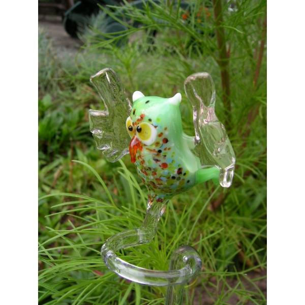 Eule grün Orchideenstab